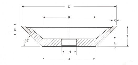 Круг алмазный шлифовальный 12V9 9-3106-АС4