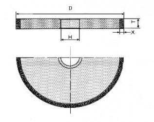 Круг алмазный шлифовальный плоский прямого профиля  формы 1А1 2720-0102
