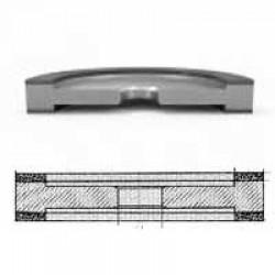 Круг алмазный шлифовальный плоский с двухсторонней выточкой формы 9АЗ