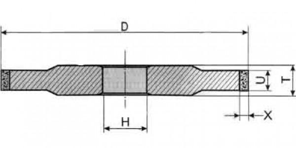 Круг алмазный шлифовальные плоской формы 14A1