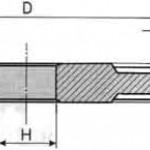 Круг алмазный прямой трехсторонней формы 14U1