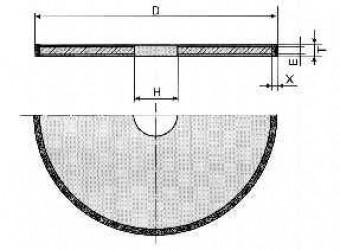 Круг алмазный отрезной - формы 1А1 R 6-0167